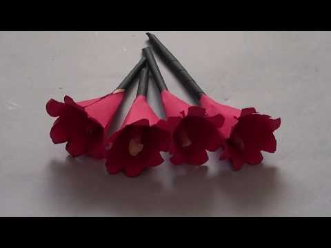 DIY PAPER FLOWERS | How to make simple and easy paper crafts