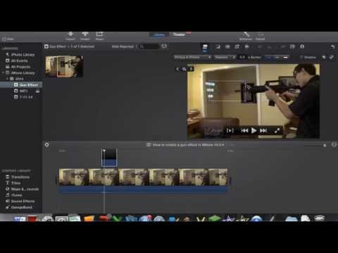 How to create a gun effect in iMovie 10 0 4