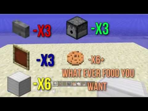 Minecraft - How to make a simple Vending Machine (PS4, Xbox one, 360, PC)
