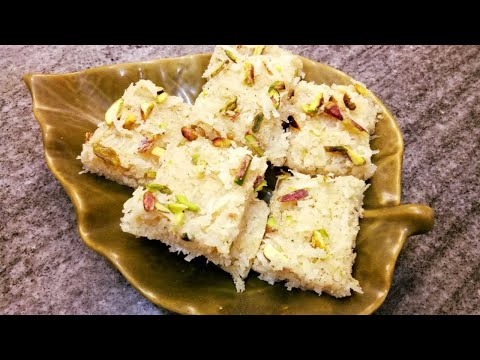 Fresh Coconut Burfi Recipe|Coconut Burfi Recipe With Condensed Milk|Navratri Festival Mithai Recipe