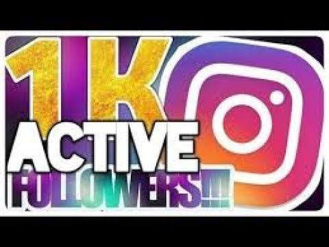 How to get  (1k) followers on INSTAGRAM  in just 5 min OMG 100% WORK..