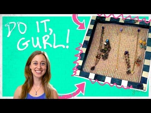 DIY Wall-Hanging Jewelry Organizer! - Do It, Gurl