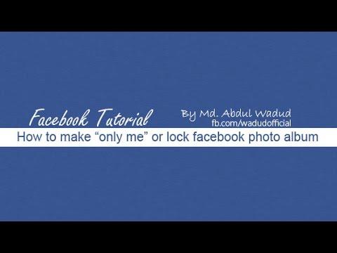 How to Lock Facebook Photo Album
