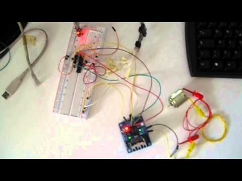 Controlling DC Motor speed and direction with AVR Atmega using PWM