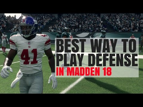 Best Way To Play Defense In Madden 18 - Lock Up!