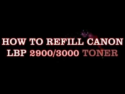 How To Refill Canon LbP 2900/3000 Toner Cartridge