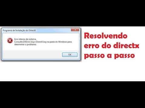 Resolvendo erro DirectX Dxerror.log