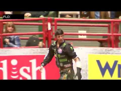 JB Mauney - Bull Riding - Semi-Finals - Wed-Feb-21