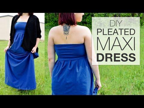 DIY Pleated Maxi Dress - Free Pattern