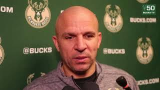 Jason Kidd Postgame Interview / Bucks vs Sixers / Jan 20