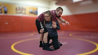 Teaching My Girlfriend How To Wrestle