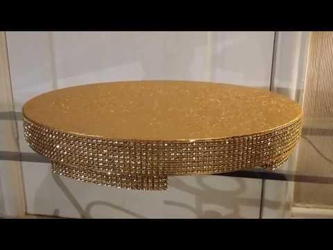 Gold Sparkling Diamante Effect Cakestand