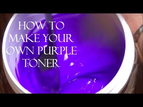 DIY- How To Make Your Own Purple Toner