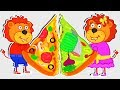 Lion Family 🍕 Kids Cooking Healthy Pizza | Cartoon for Kids