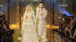 Ranveer Singh With Wife Deepika Padukone Rocked The Ramp Show For Abu Jani-Sandeep Khosla