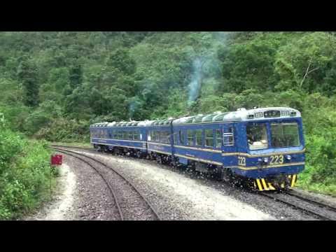 South America train from Ollaytantambo to Machu Picchu