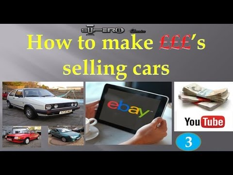 Selling cars on eBay for cash!  Part 3 - Collecting the car - What to take with you + a Twist!