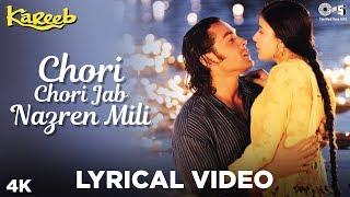 Chori Chori Jab Nazrein Mili Lyrical - Kareeb |  Kumar Sanu & Sanjivani | Bobby, Neha & Moushumi
