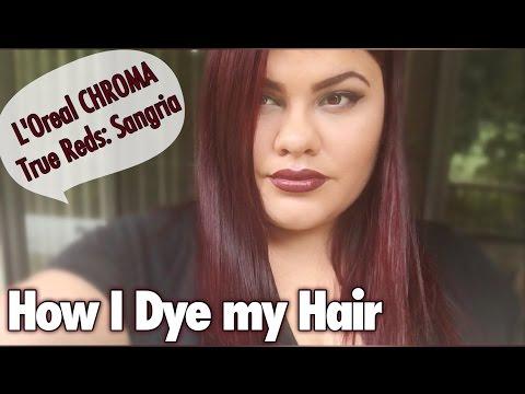 How I Dye my Hair | L'Oreal CHROMA True Reds: Sangria