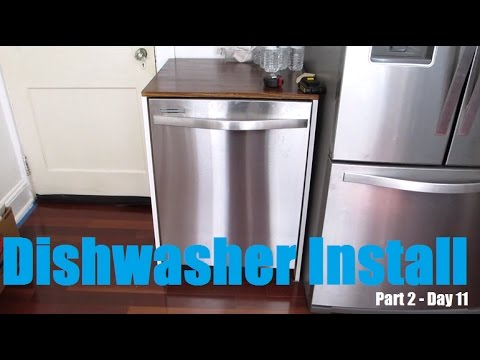 How to Install Whirlpool Dishwasher - Kitchen Reno Day 11 - Part 2 | DIY Distress