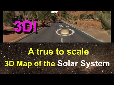 3D Solar System Map at scale 1:6,000,000,000 (1: Six Billion)