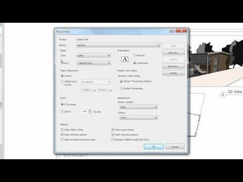 8.3 PRESENTATIONS // PRINTING TO PDF. [Revit Architecture 2011]