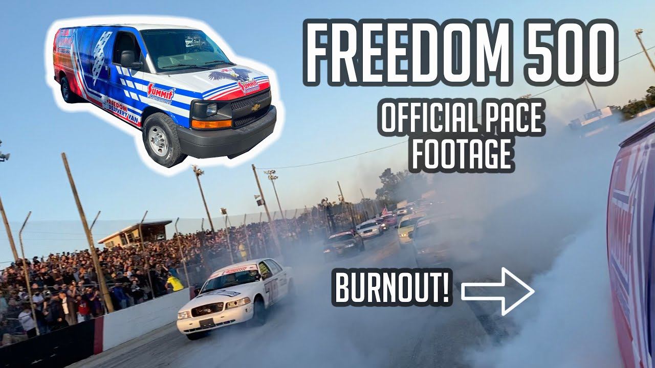JH Diesel and I paced the Freedom 500 in a 600hp LS3 van! Behind the scene footage only seen here!