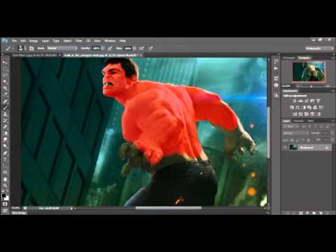 Photoshop Cs6 - Speed Art - Homo-hulk