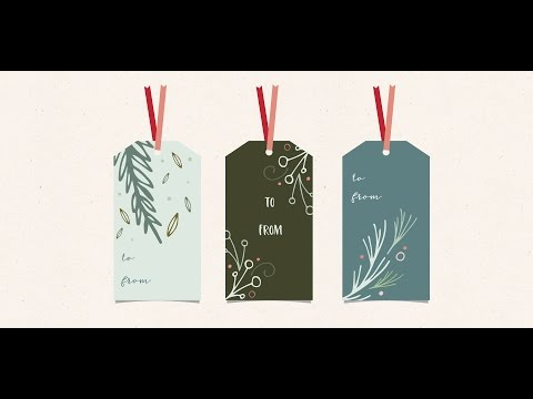 Design Holiday Gift Tags in Adobe Illustrator