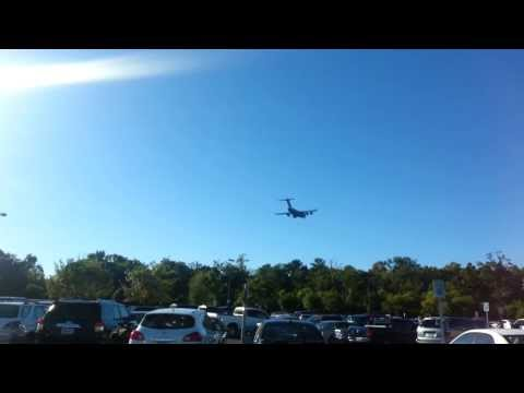 C-17 plane landing at the airport in North Charleston military ..... SC , USA