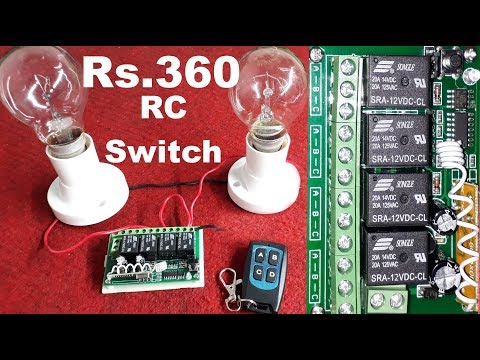 Remote control switches for Lights and Fans | Wireless Remote Control Switch