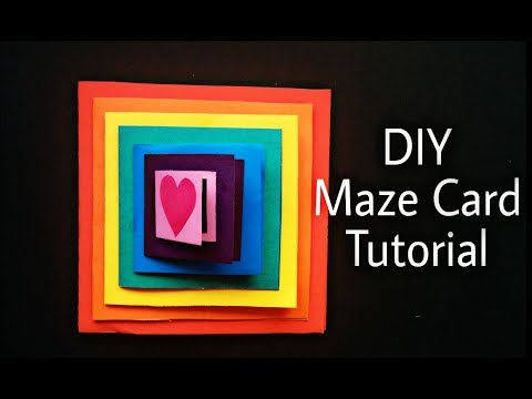 DIY Maze Card Tutorial | Handmade Card Idea