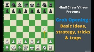 Chess Opening - Grob Attack: Basic ideas,strategy, trick & traps