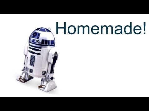 Homemade R2-D2 Cardboard WORKING ROBOT!