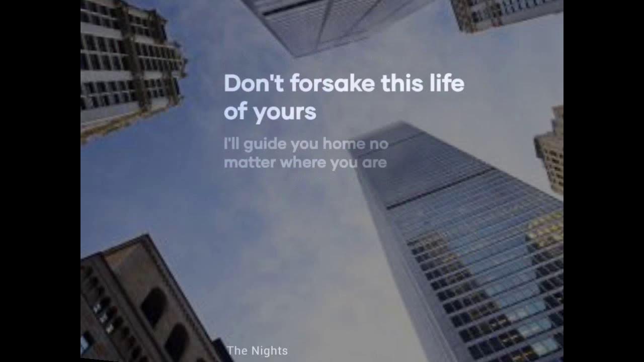 Lirik Lagu The nights | Cover