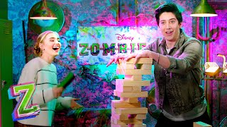 Tower Challenge with Meg Donnelly and Milo Manheim | ZOMBIES 2 | Disney Channel