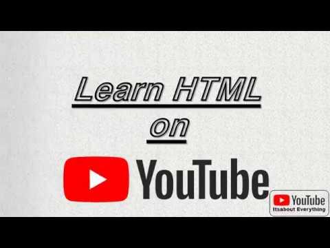 Learn HTML Part III