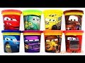 Cars Disney Pixar Play Doh Can Heads amp Lightning McQueen Fillmore Miss Fritter Learn Colors For Kids
