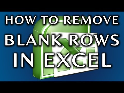 How To Remove Blank Rows From An Excel Spreadsheet