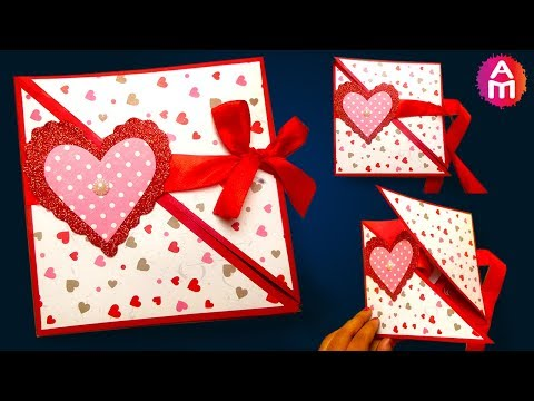 How to make - DIY valentine cards | Handmade love card making ideas
