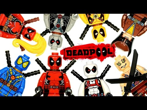 Deadpool X-Men Marvel Super Heroes X-Force LEGO KnockOff Minifigures Set 2