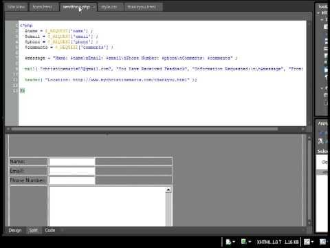 Feedback Form Tutorial - HTML & PHP