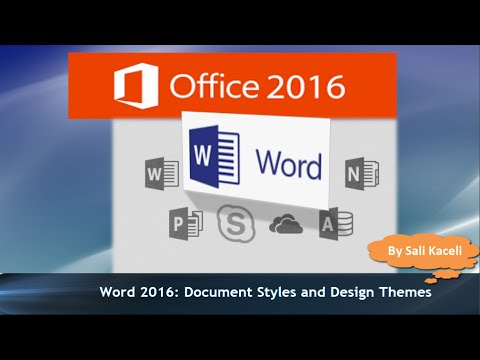 Word 2016 Tutorial: Applying Styles and Design Themes to All Components in a Document (20)