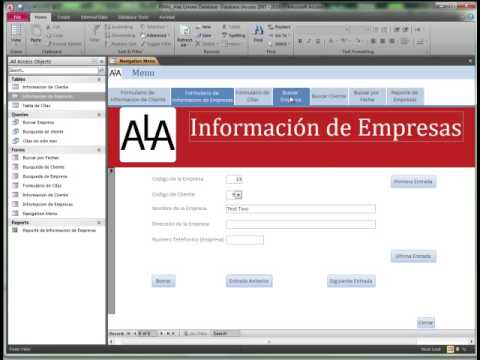 Screencast for ITGS Internal Assessment project - Database