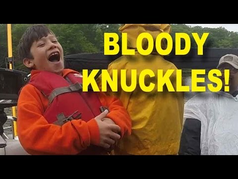 Kids Get Schooled in Bloody Knuckles - Kids learn about bloody knuck the hard wayles