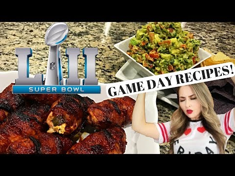 BBQ Bacon Wrapped Chicken Jalapeño Bombs & Chunky Guacamole | Super Bowl Game Day Recipes