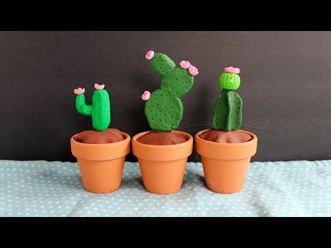 DIY Clay Cactus - make this for your home!