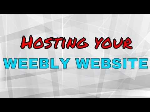 How to host a Weebly website