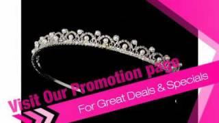 Circles Of Love Rhinestone Tiara - Bridal Headband Tiara