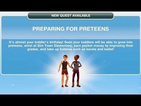 Sims freeplay:Preparing for preteens